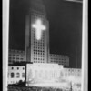 Composite of Christmas festival on City Hall steps, Los Angeles, CA, 1930