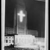 Composite of Christmas festival on City Hall steps, Los Angeles, CA, 1930