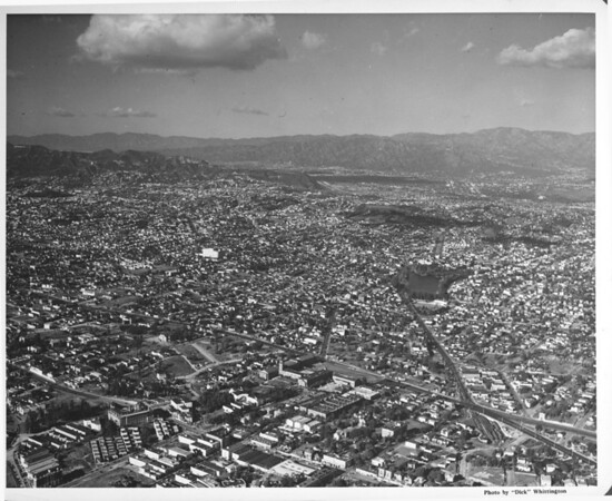 Aerial view of Echo Park District