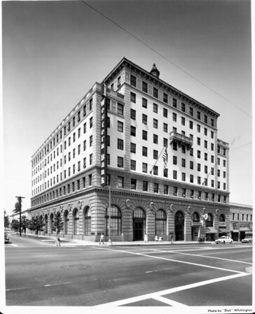 A corner view of the First Western Bank Building