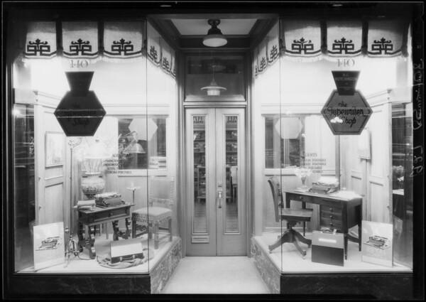 140 West 7th Street, typewriter shop, Los Angeles, CA, 1927