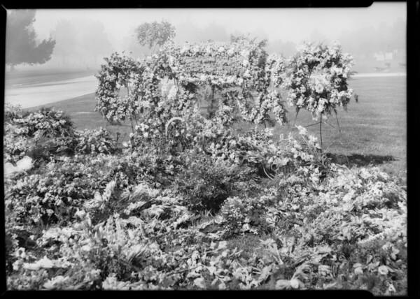 Flowers on grave, Inglewood, CA, 1931