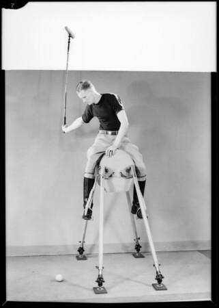 Practice polo horse, Southern California, 1931