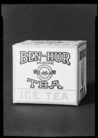 Box of Ben-Hur tea - 4 ounces, Southern California, 1931