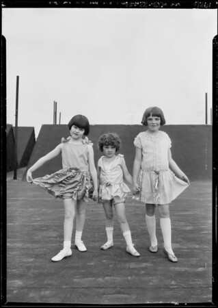 Kiddies fashion show for George, Broadway Department Store, Southern California, 1926
