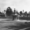 A fountain foregrounded in the Inglewood Park Cemetery