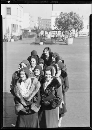 "More heads for ""crowd"" strip, May Company, Southern California, 1931"