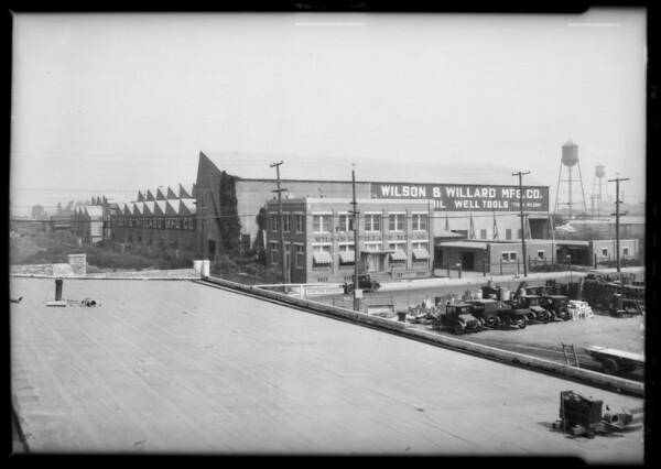 Wilson Willard parts at factory for catalog, Southern California, 1926