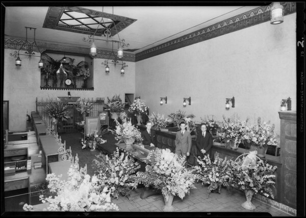 Opening day with flowers, Southern California, 1930