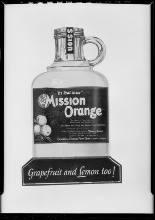 Advertising matter, California Crushed Fruit Corporation, Southern California, 1927