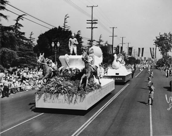 The Louisiana float in the American Legion Parade