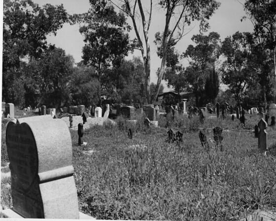 Headstones in the cemetery