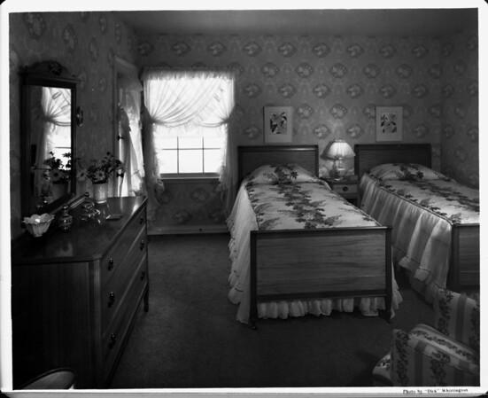 Home interior of 1948, bedroom