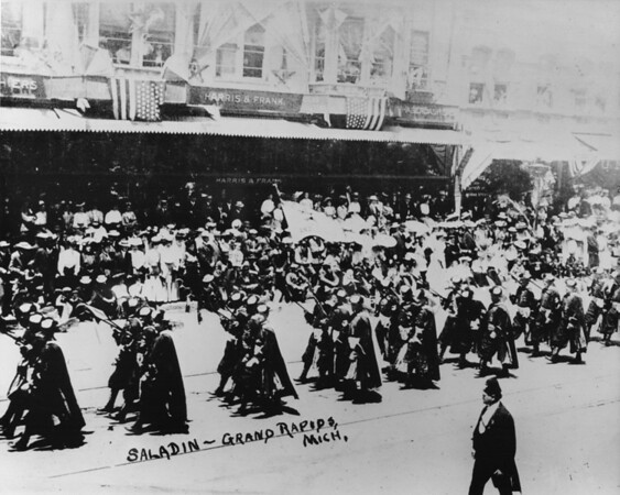 Shriners Parade, Harris & Frank, Saladin contingent from Grand Rapids, Michigan