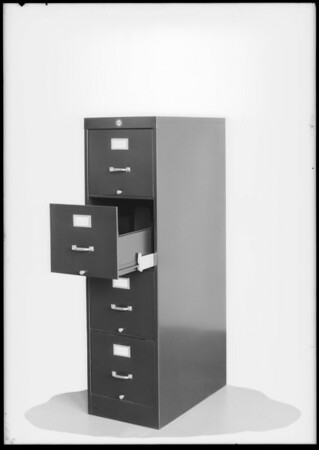 Steel cabinet, Southern California, 1930