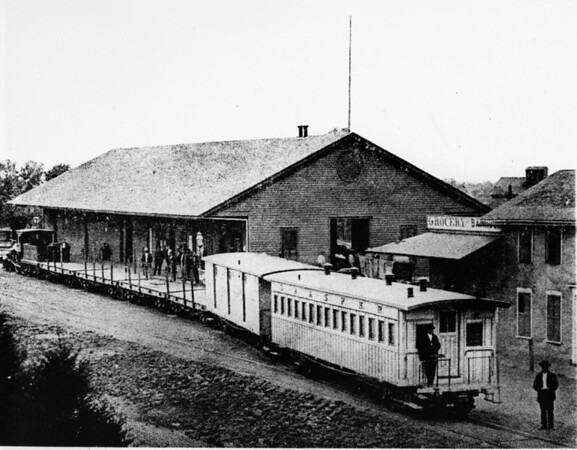 Alameda Depot and the Los Angeles and San Pedro Railroad Station