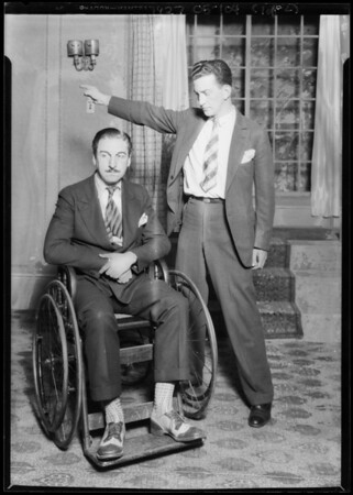 "Publicity shots ""Creaking Chair"", Morosco Theatre, Southern California, 1927"