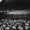 Looking over the orchestra toward the audience during a Symphony Under the Stars at the Hollywood Bowl