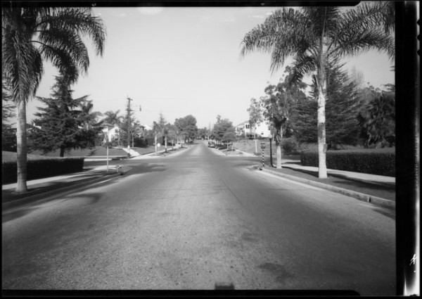 Intersection of Arlington Avenue and Country Club Drive, Los Angeles, CA, 1934