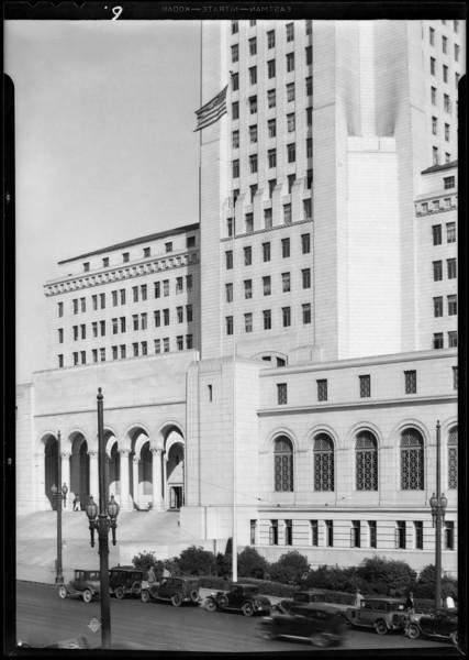 Flag poles, guard rails, etc., Southern California, 1931