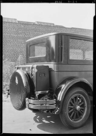Trunk rack on Chrysler, Southern California, 1926