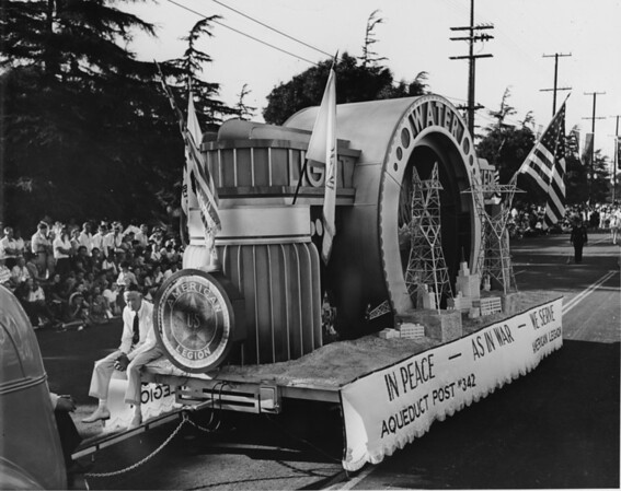 The Aqeduct Post #345 float in the American Legion Parade