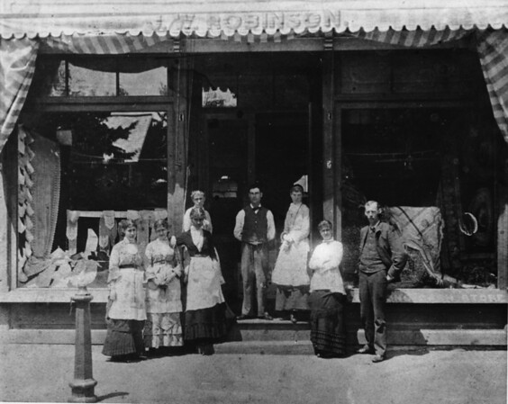 Posing in front of the Old J.W. Robinson Company Store (Mr. Robinson is on the right)