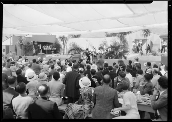 Fiesta Los Angeles groups, California Breakfast Club, Southern California, 1931