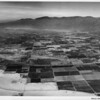 Aerial view of Indio, California, facing south