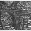 Aerial view, Interchange between the Hollywood Freeway and Harbor Freeway, Cesar Chavez Avenue