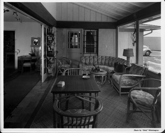 Home interior of 1948, living room / den area