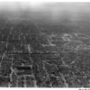 Aerial view of Los Angeles looking west