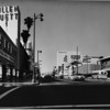 Facing west on Wilshire Boulevard at Burnside Avenue