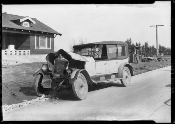 Wreck, Eureka Casualty, Southern California, 1927