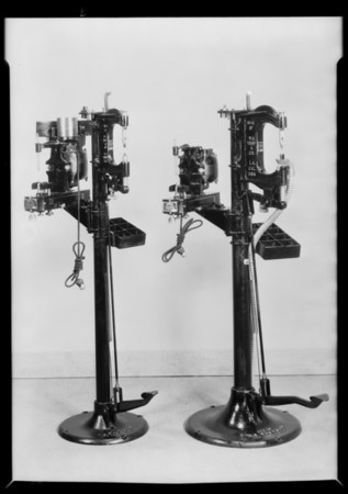 Brake truing machine, Southern California, 1930
