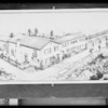 Artist's drawing of Norton's home, Southern California, 1926