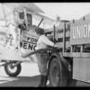 Endurance plane, Southern California, 1932