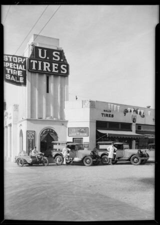 Scenes at station, Southern California, 1929