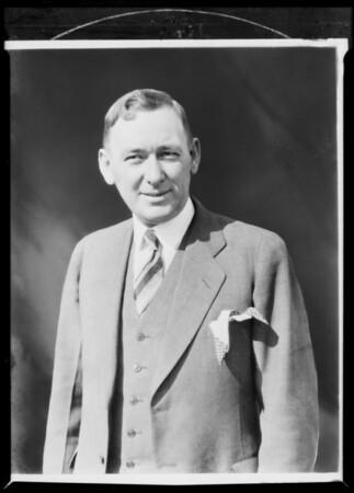 Mr. Jack Maddux, background airbrushed, Southern California, 1931