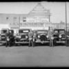 Four men and cars, West American Insurance, Southern California, 1932