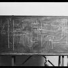 Blackboard in Judge Valentine's court, Superior courtroom #6, Southern California, 1930