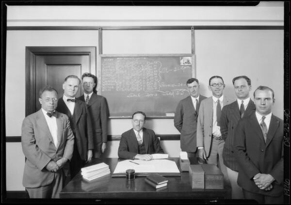 Group of men, Eureka Casualty Co., Southern California, 1926