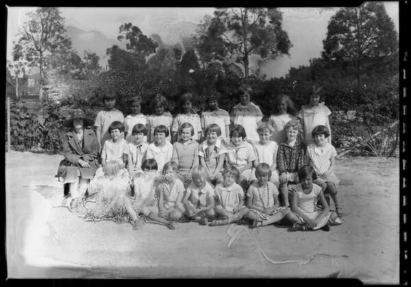 Sunday school groups, Southern California, 1927