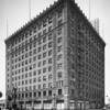 The Petroleum Building of the General Motors Acceptance Corporation at the southwest corner of Olympic Boulevard and Flower Street in Downtown Los Angeles