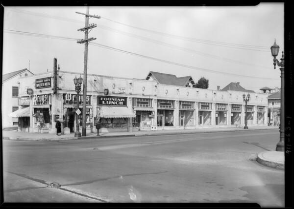 Northwest corner of South Hill Street & West Adams Boulevard, Los Angeles, CA, 1929