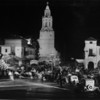 "Crowds of people and a caravan of cars in front of the Fox Carthay Circle Theatre during the premiere of ""Wee Willie Winkie"""