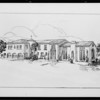 Architect's drawing, Frank Meline Co., Southern California, 1926