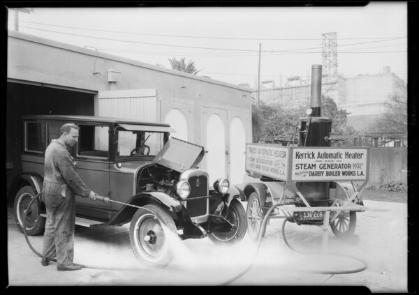 Kerrick automatic heater, Chevrolet Motor Co., Southern California, 1927