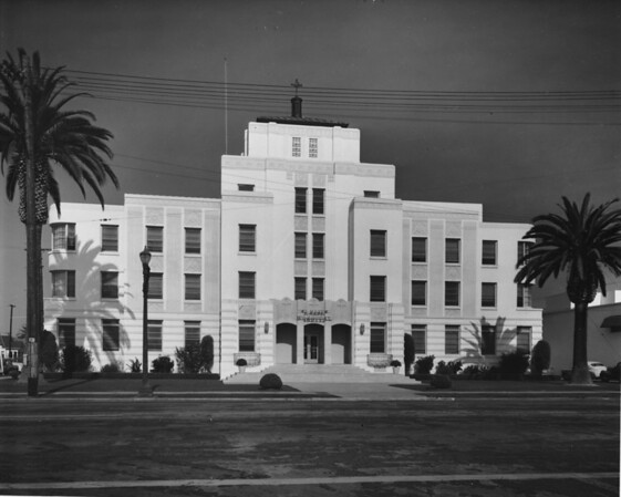 Saint Mary's Hospital at the corner of Tenth Avenue and Linden Avenue in Long Beach