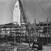 Building under construction, City Hall, Civic Center, American Bridge Crane